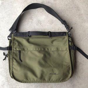 Eddie Bauer messenger laptop bag olive green